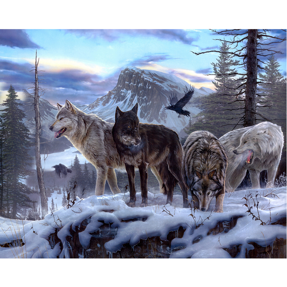 DIY 5D Diamond Painting Wolf Embroidery Cross Stitch Craft Kit Home Decor Hand Embroidery Kits