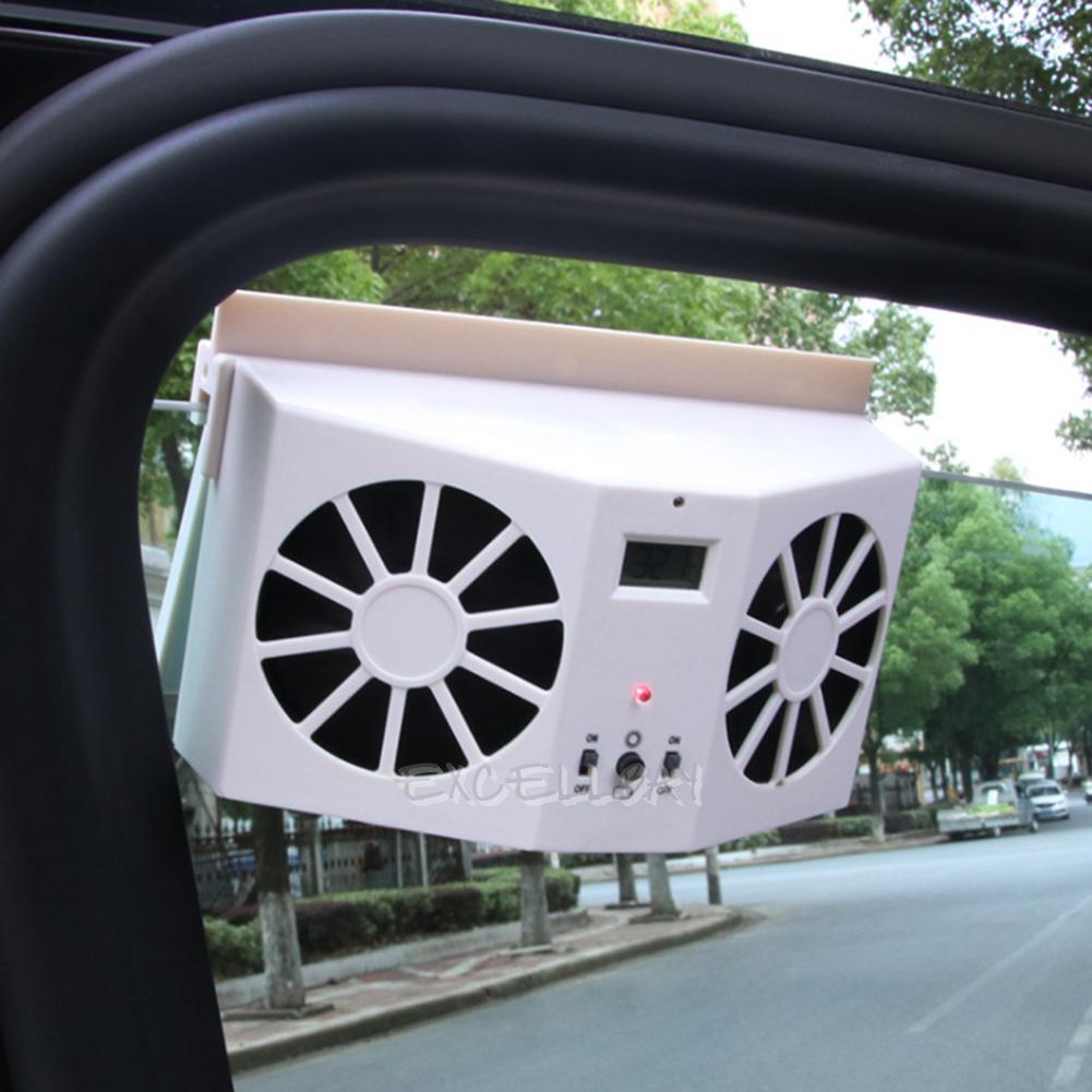 solar powered car interior cooler auto air vent cool fan ventilation system ebay. Black Bedroom Furniture Sets. Home Design Ideas