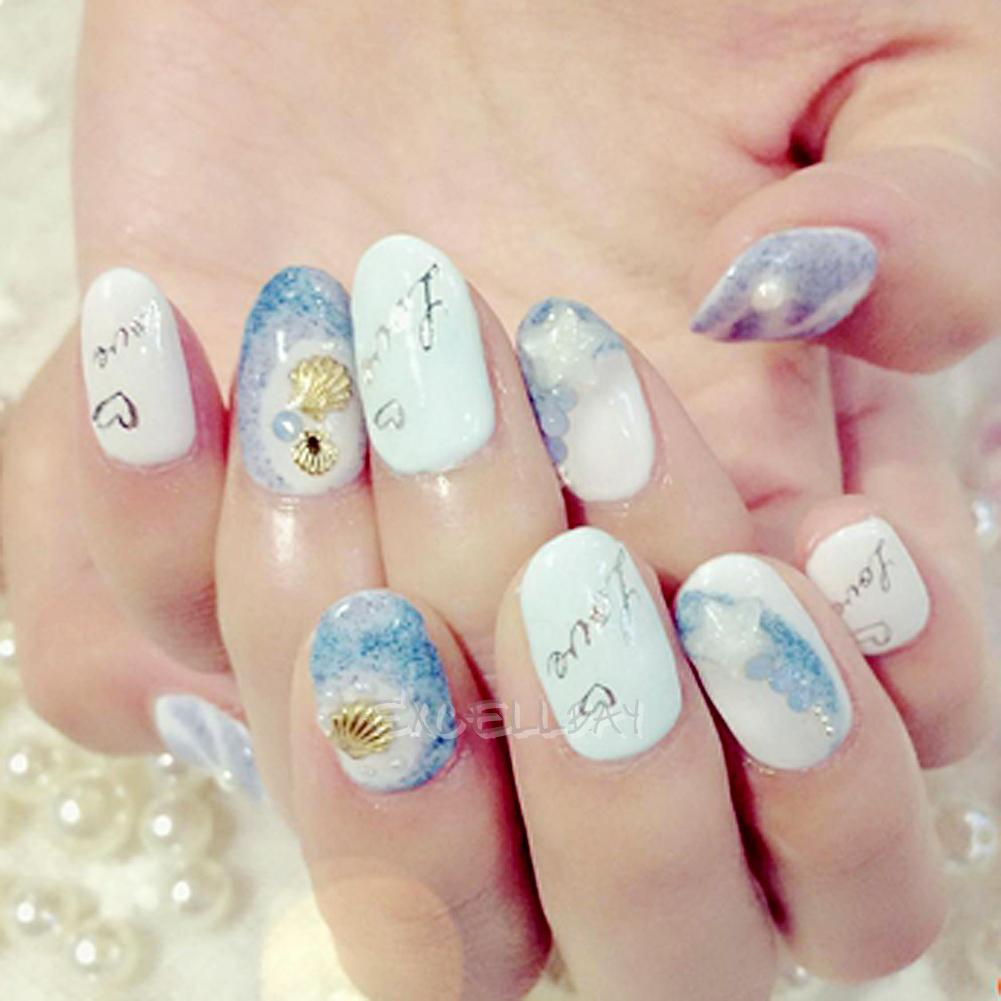 3d nail art sticker tip decoration ocean alloy jewelry for 3d nail decoration