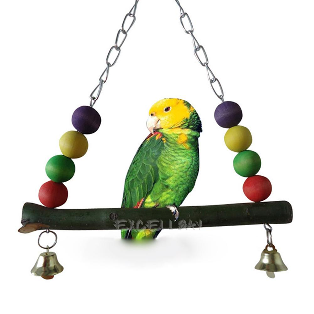 Parakeet Chew Toys : Cage hammock swing hanging chew toys for bird parrot