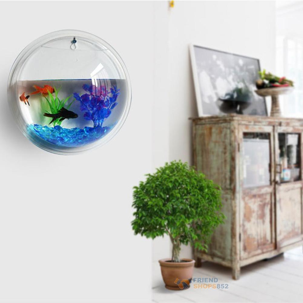 Plant Wall Hanging Bubble Aquarium Bowl Fish Tank Aquarium Home ...