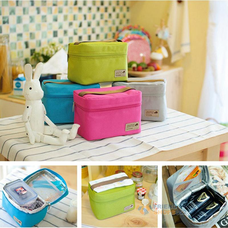 portable insulated thermal cooler bento lunch box tote picnic storage holder. Black Bedroom Furniture Sets. Home Design Ideas