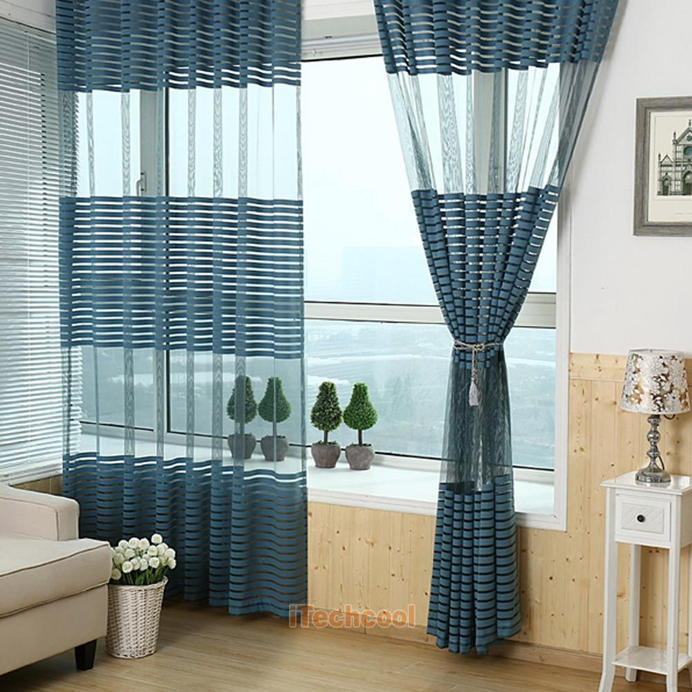 Curtain For Balcony: Modern Window Curtain Sheers Living Room Balcony Office