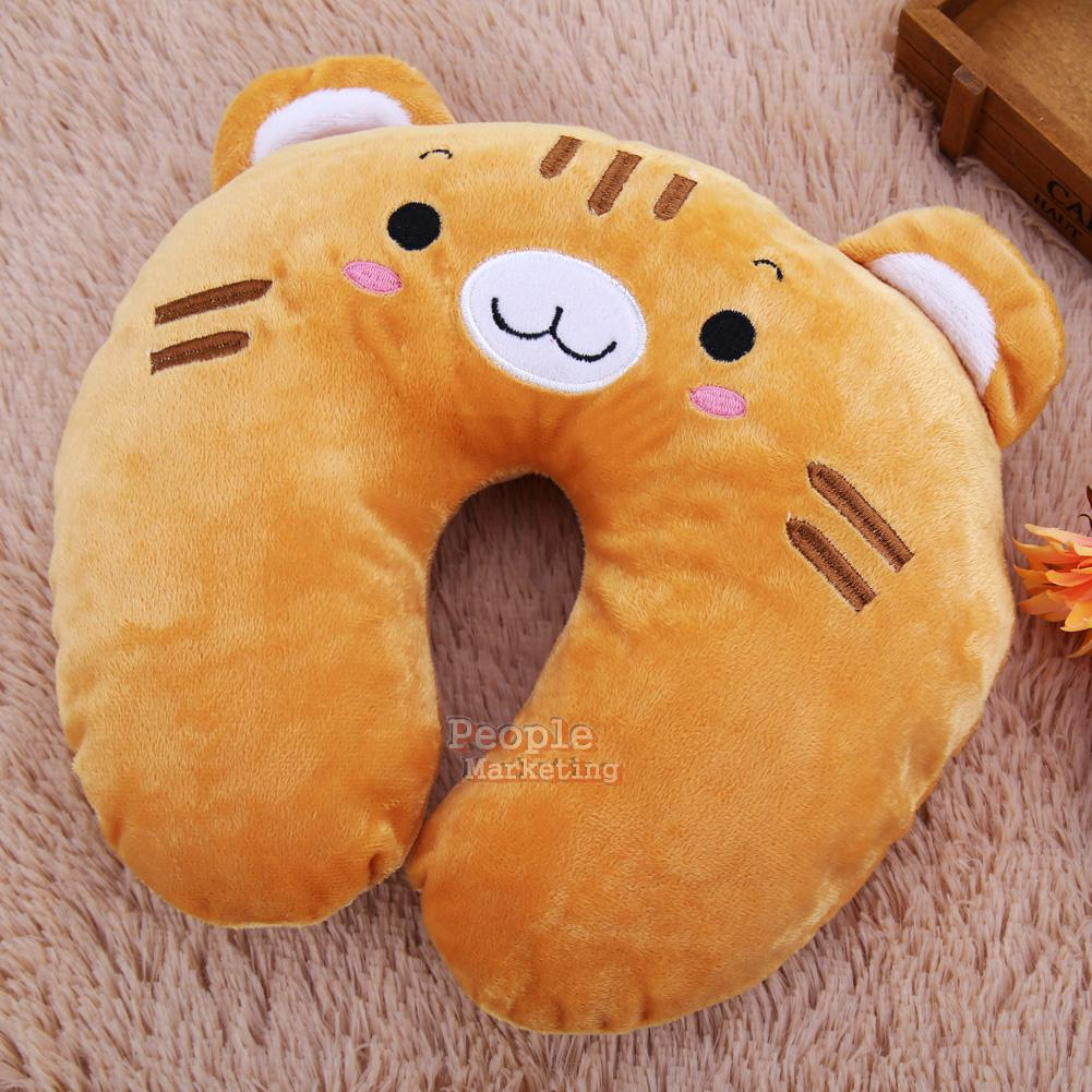 Animal Shaped Massage Pillow : U Shaped Home Travel Pillow Cushion Head Neck Support Headrest Cartoon Animals