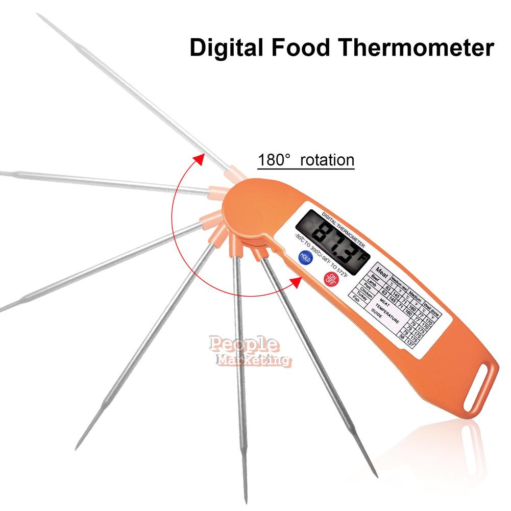 instant read foldable digital food kitchen cooking meat bbq grill thermometer. Black Bedroom Furniture Sets. Home Design Ideas