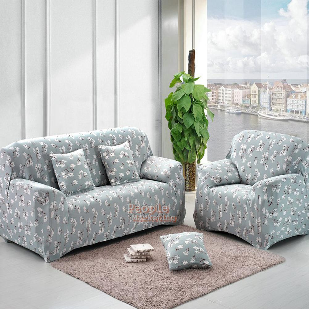 Slipcover Sofa Set: Spandex Stretch Slipcover Printed Sofa Loveseat Chair