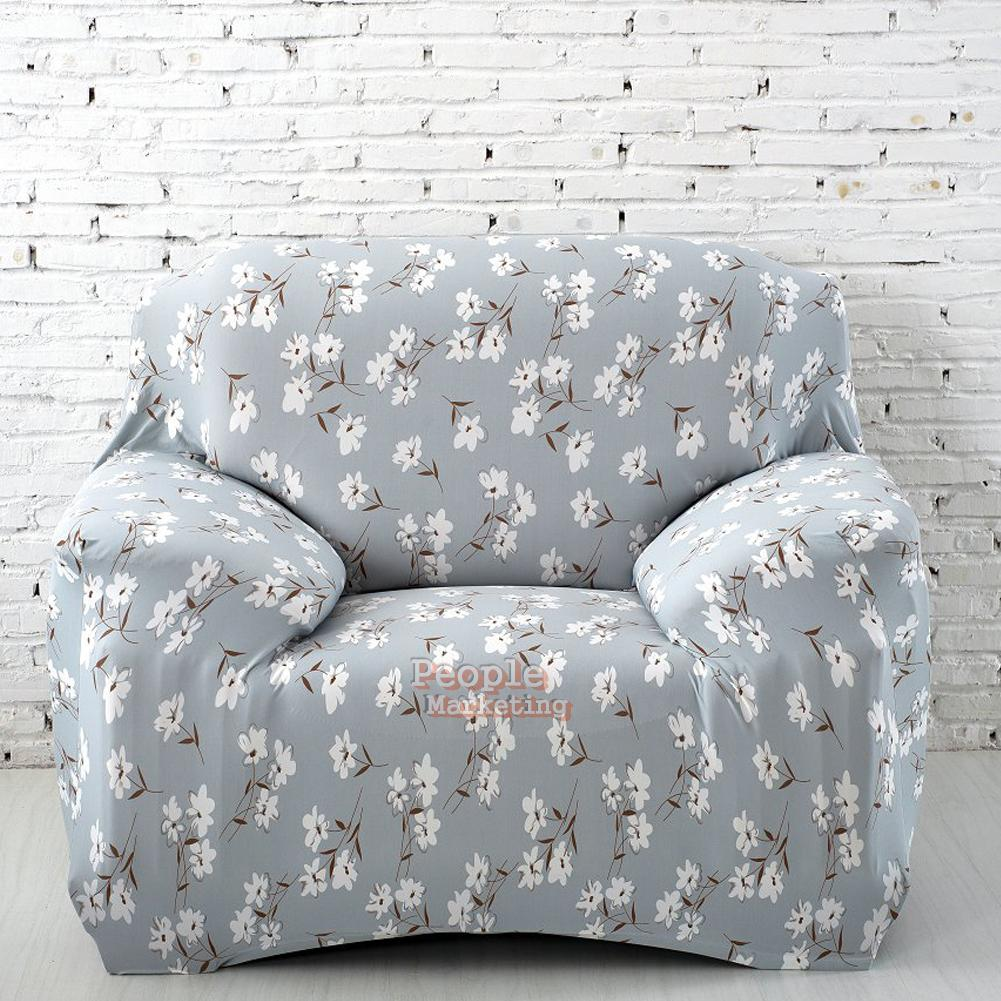 Spandex Stretch Slipcover Printed Sofa Loveseat Chair Furniture Cover Protector Ebay