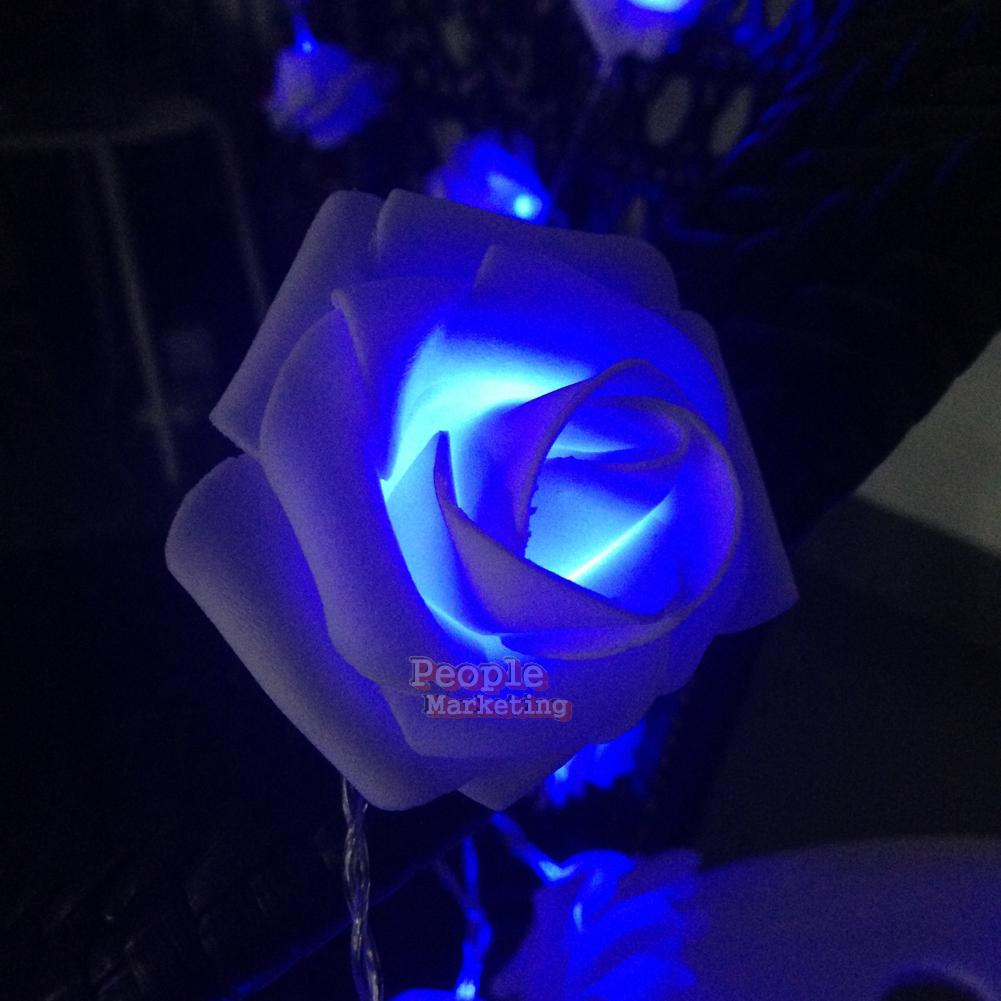 Led Rose String Lights : 20 LED Rose Flower String Lights Fairy Wedding Garden Party Christmas Decor #P eBay