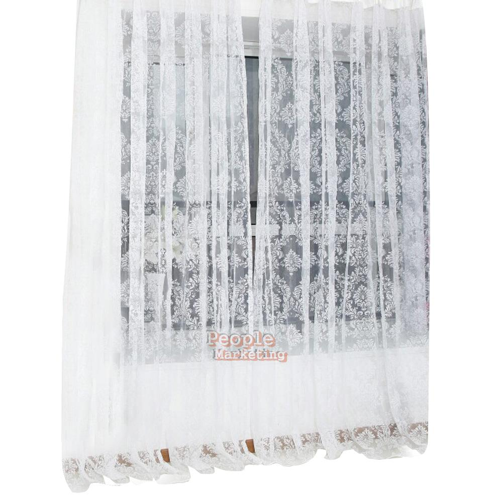 Floral Tulle Window Door Curtain Drape Panel Sheer Scarf