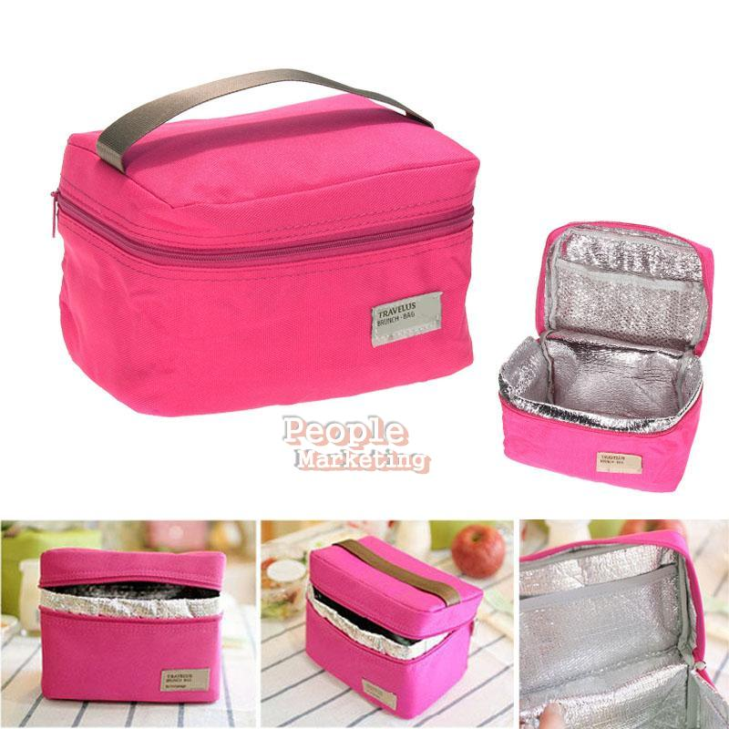portable insulated thermal cooler lunch box carry tote storage bag bento box ebay. Black Bedroom Furniture Sets. Home Design Ideas