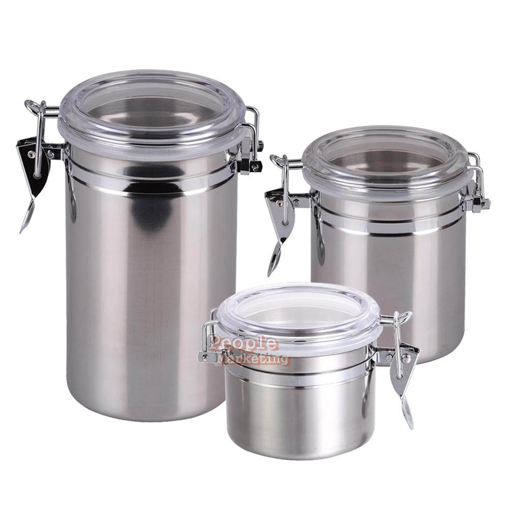 Stainless steel storage containers for kitchen - Stainless Steel Canister