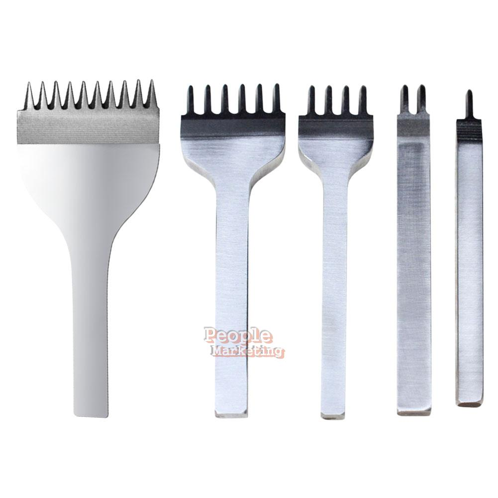 3//4//5//6mm DIY Leather Craft Tool Hole Chisel Stitching Punch Prong Newly
