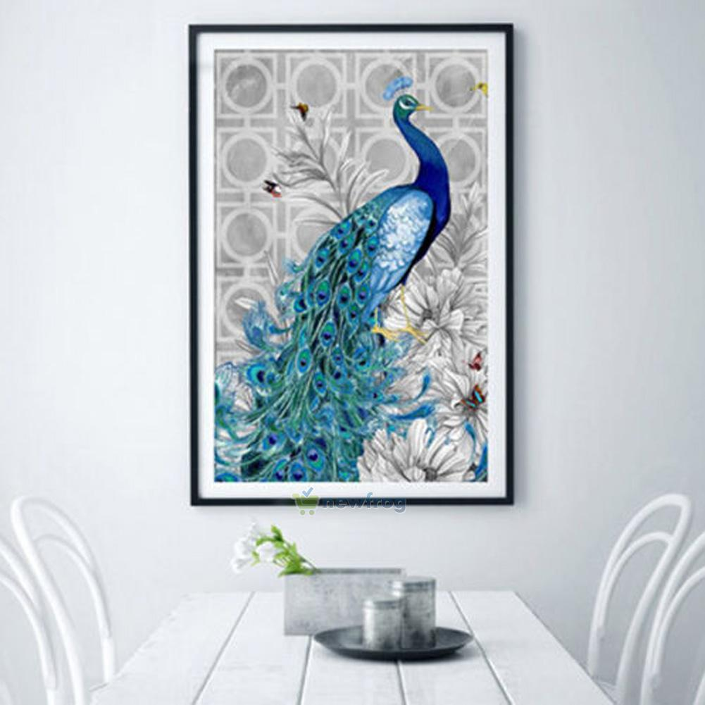 Diy 5d diamond peacock cross stitch kit embroidery art for Paintings of crystals