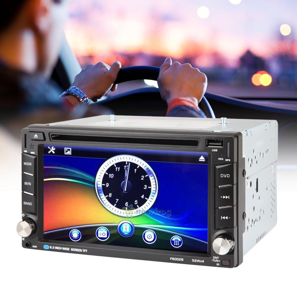 6 2 hd double 2 din car dvd usb sd cd player bluetooth. Black Bedroom Furniture Sets. Home Design Ideas