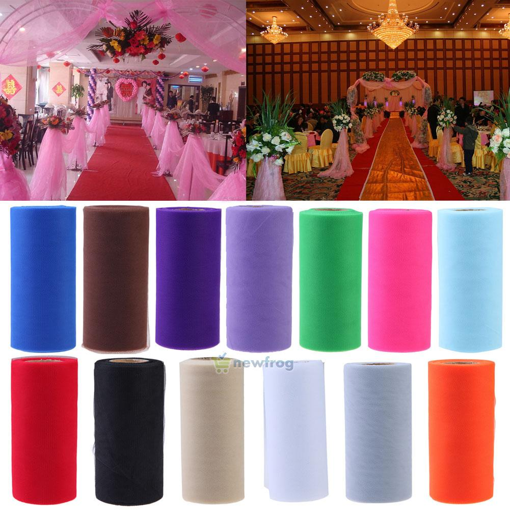Wedding Decor Organza Fabric Mesh Wrap Net Party Tulle Roll Spool