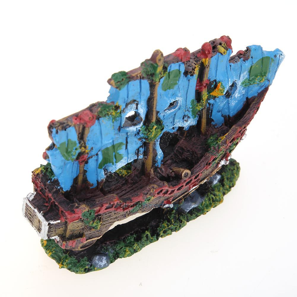 Aquarium ornament wreck sailing boat sunk ship destroyer for Aquarium cave decoration