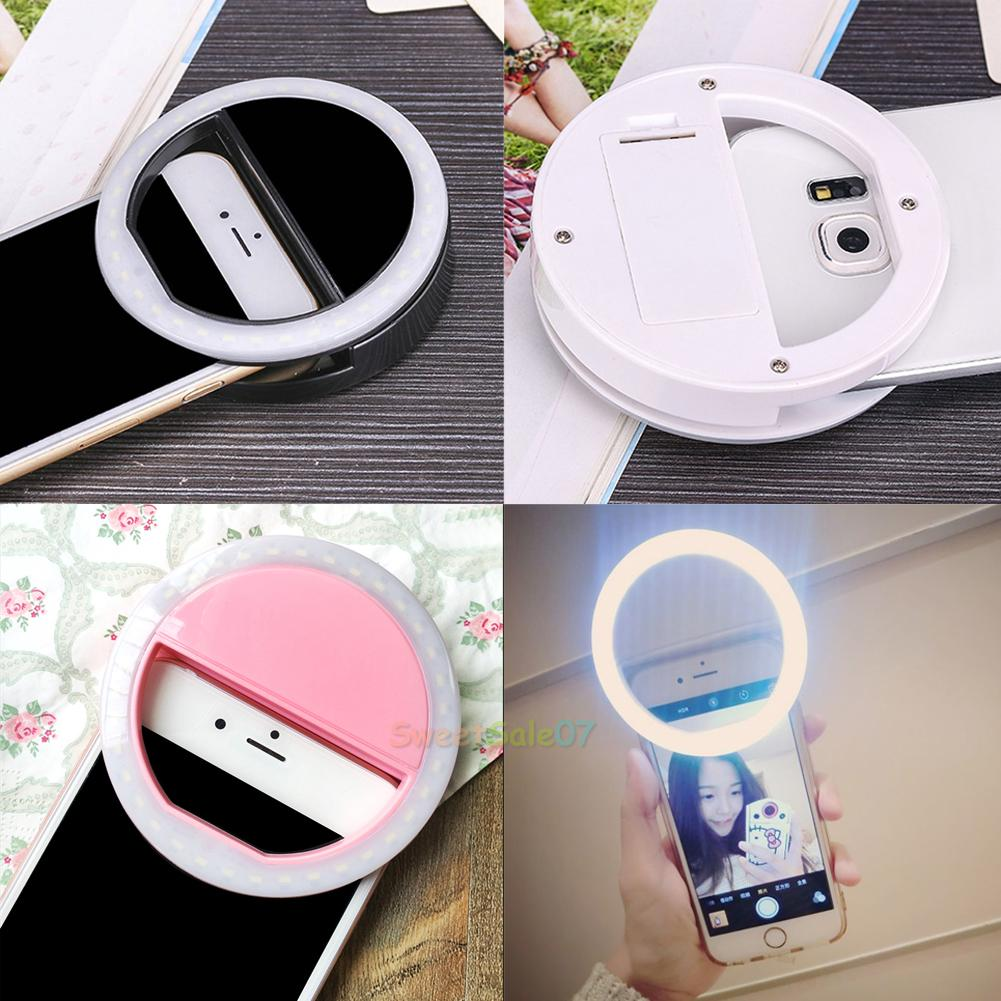 Rechargeable Selfie LED Ring Fill Light Camera Photography for ... for Beauty Light For Iphone  156eri