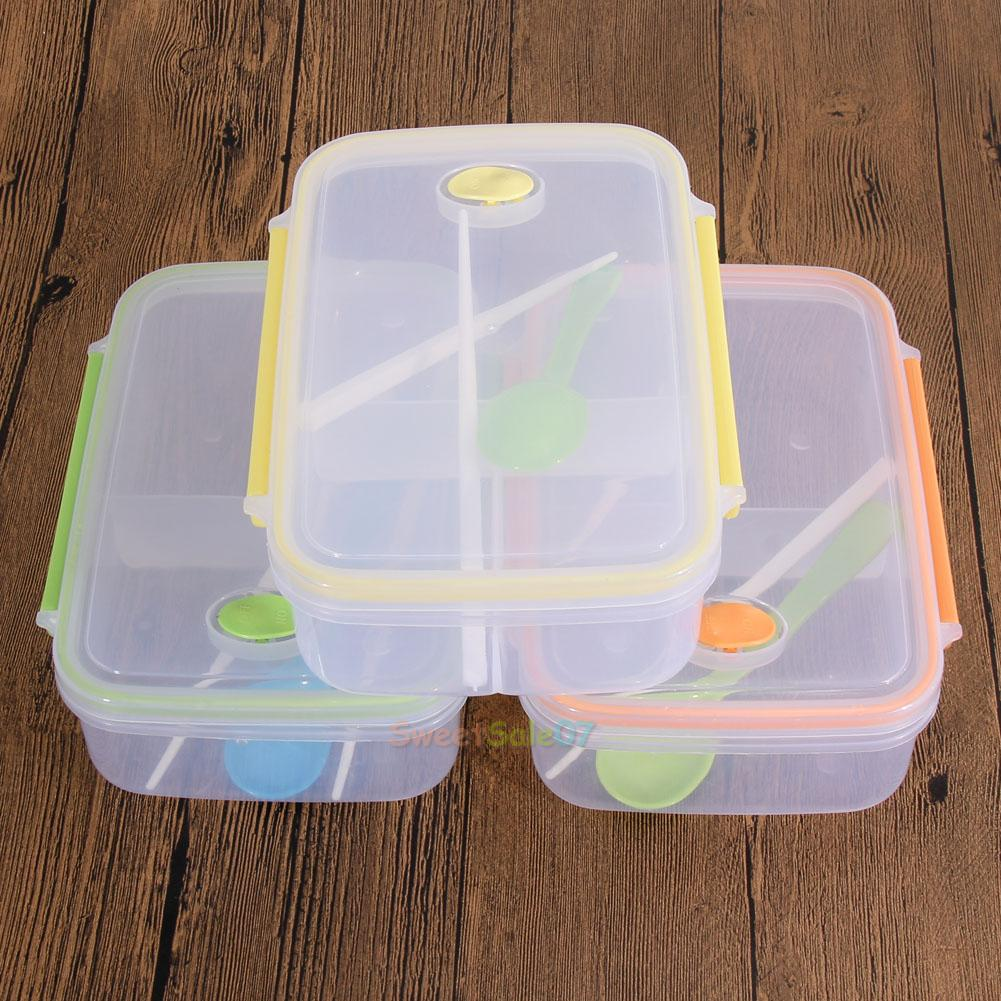 lunch box food container picnic storage portable bento microwave bowl spoon n. Black Bedroom Furniture Sets. Home Design Ideas