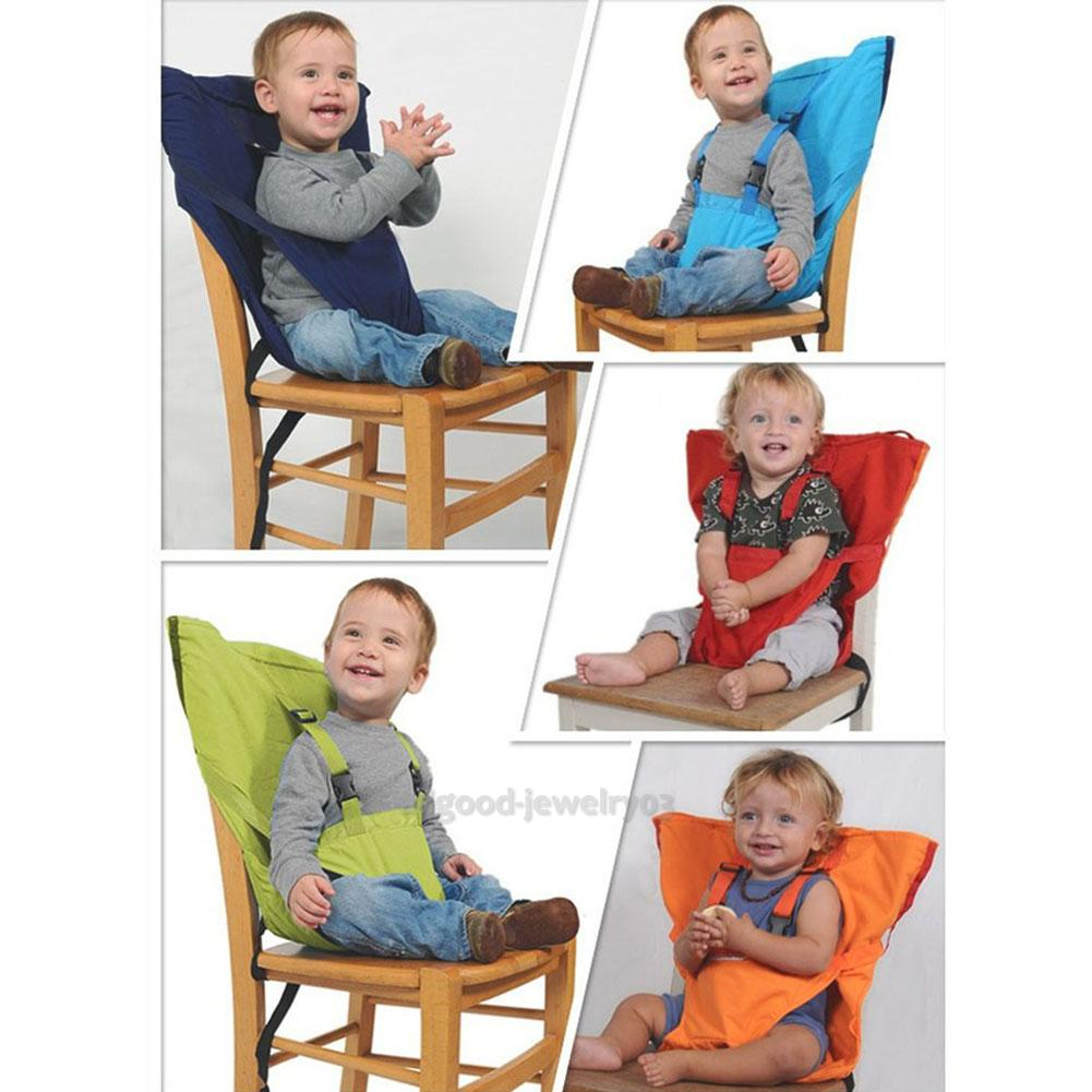 baby portable seat kids high chair harness child booster seat safety belts ebay. Black Bedroom Furniture Sets. Home Design Ideas