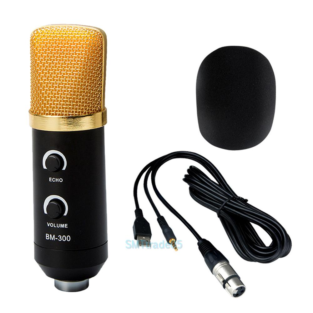 usb condenser studio sound recording microphone mic w shock mount tripod stand ebay. Black Bedroom Furniture Sets. Home Design Ideas