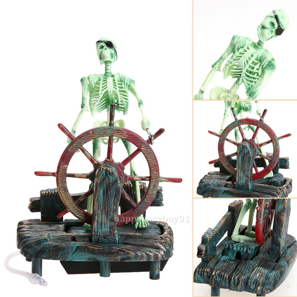 Pirate Captain Aquarium Decorations Landscape Skeleton ...