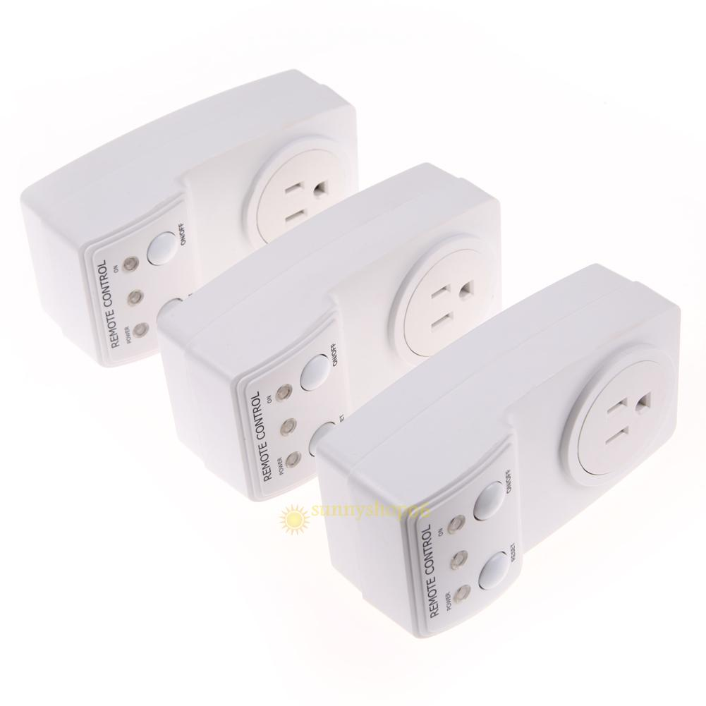 3pack wireless remote control ac electrical power outlet. Black Bedroom Furniture Sets. Home Design Ideas