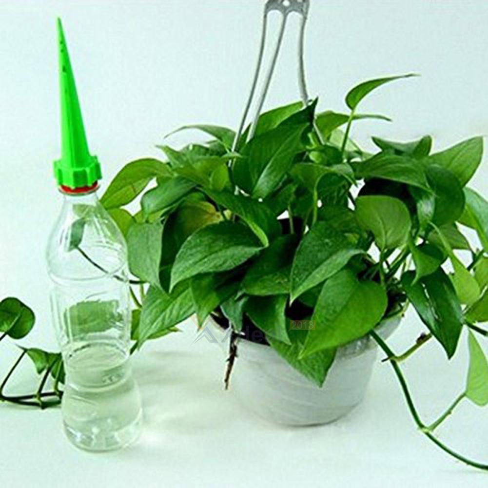 12x automatique garden cone arrosage de spike plante en pot bouteille auto ebay. Black Bedroom Furniture Sets. Home Design Ideas