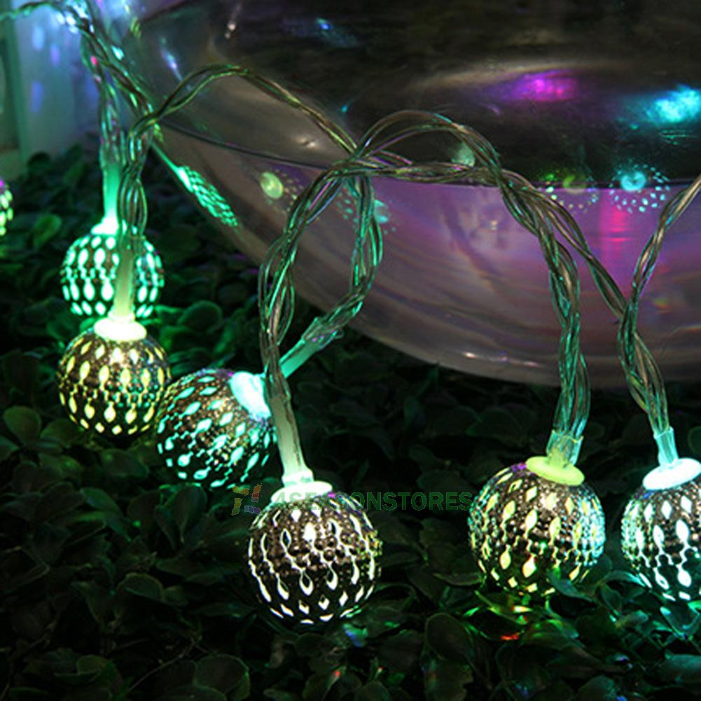 Moroccan Solar LED String Fairy Wedding Light Lamp Xmas Party Garden Balls Decor eBay