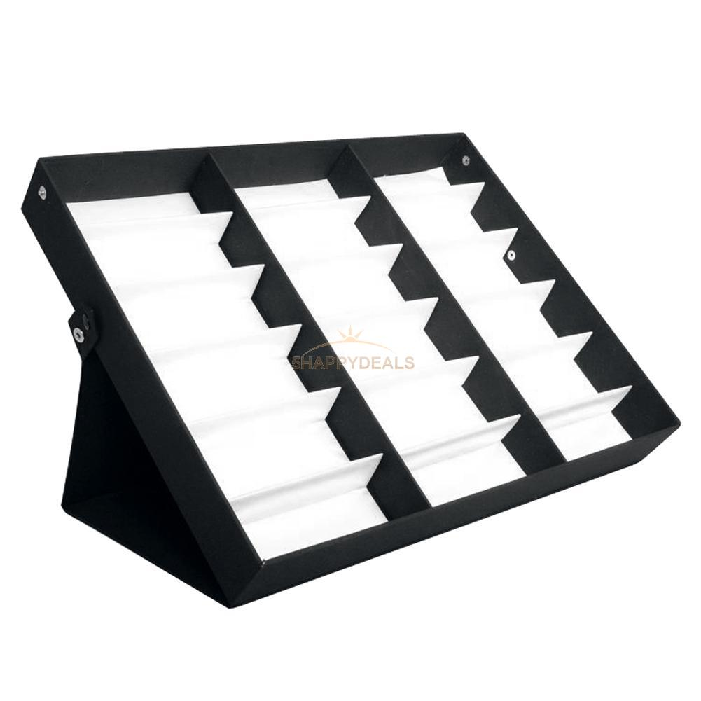 b719aefcd Details about 18 Slots New Storage Display Case Box Eyeglass Sunglass  Glasses Frames Tray New