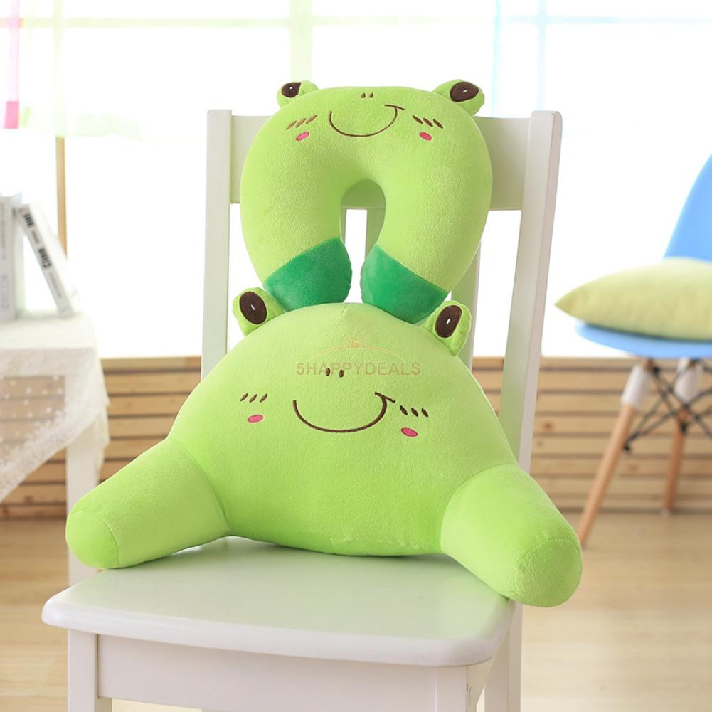 Cute Animal Shaped Pillows : Cute Cartoon Animal U Shaped Soft Travel Pillow Neck Support Head Rest Cushion