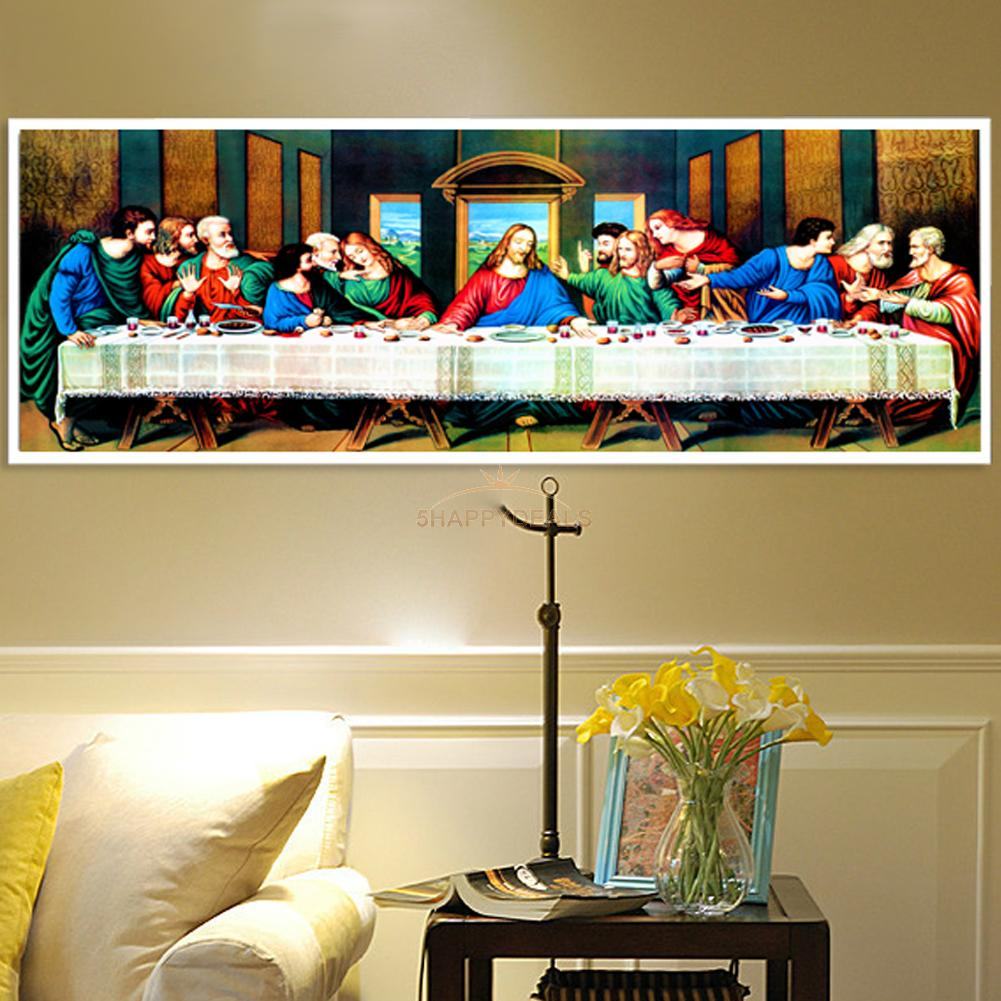 80*30cm The Last Supper 5D DIY Diamond Painting Embroidery Cross ...