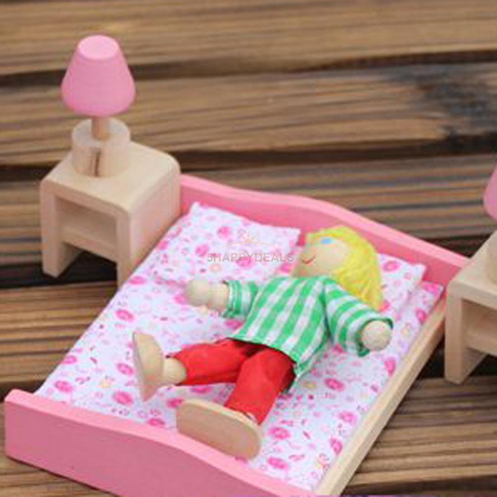 Kids Bedroom Furniture Kids Wooden Toys Online: Kids Pretend Role Play Wooden Toy Dollhouse Bedroom