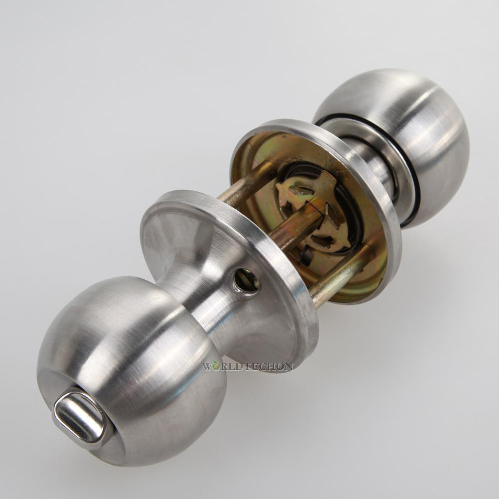 Round lever handle knob knobs door lock bedroom bathroom - Bedroom door knobs with key lock ...