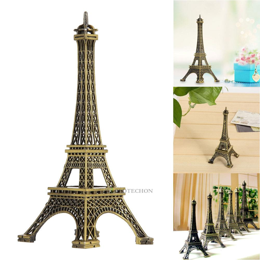 eiffel tower bedroom decor bronze tone alloy eiffel tower figurine statue retro 15213