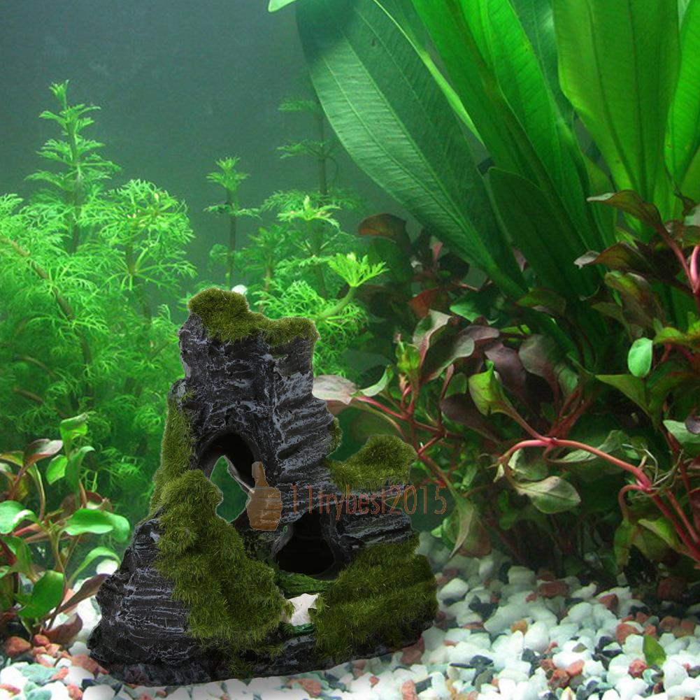 resin reef decor rock mountain aquarium fish tank