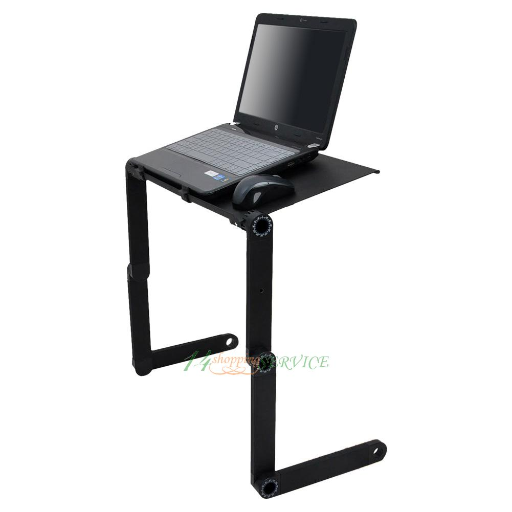 New Portable Laptop Desk Adjustable Folding Computer Table Stand Bed Sofa Tray Ebay