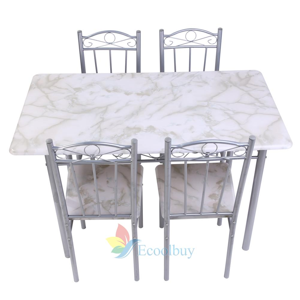 modern space saving dining table and 4 chairs set kitchen