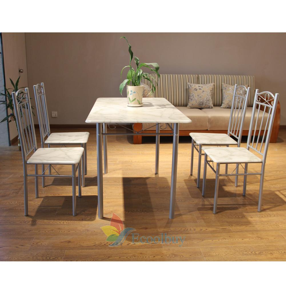 space saving dining table and 4 chairs set kitchen room home furniture