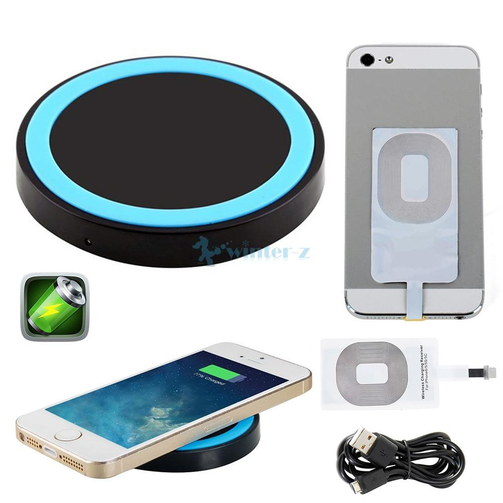 iphone 5 wireless charging qi wireless phone charger plate charging pad mat receiver 7487