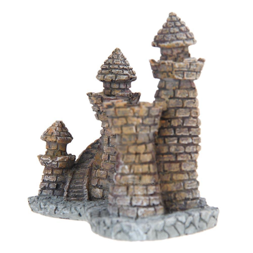 Aquarium decoration ornament castle tower house resin fish for Aquarium stone decoration
