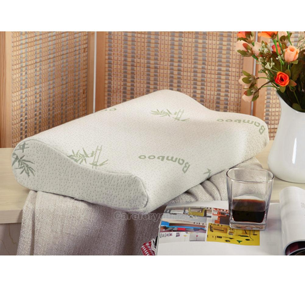 Comfort contour orthopedic bamboo fiber sleeping memory for Comfort pillows for sleep