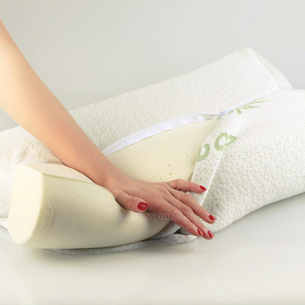 Comfort orthopedic bamboo fiber sleeping pillow memory for Comfort pillows for sleep