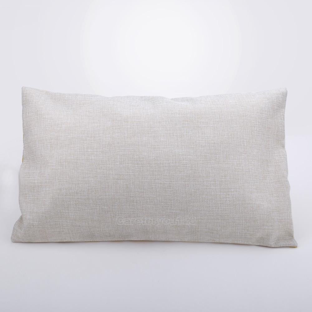 Rectangular Throw Pillow Covers : Cotton Linen Throw Pillow Case Rectangular Cushion Cover Fashion Home Sofa Decor eBay
