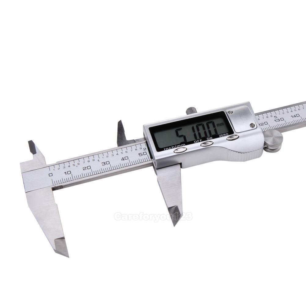 Vernier Caliper 0-150mm 0.02mm Metal Calipers Gauge Measuring Tools #Cu3