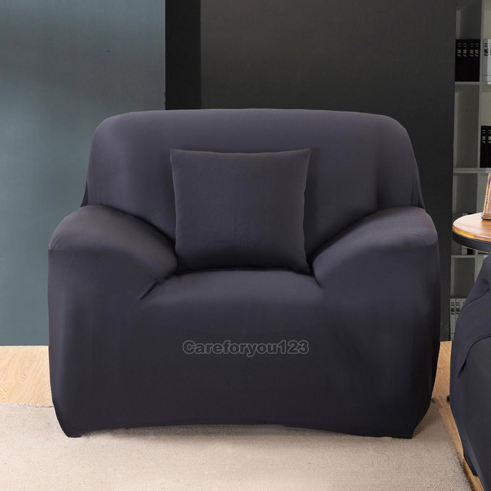 1 2 3 Seater Stretchable Slipcover Sofa Couch Cover Protector Cushion Washable Ebay