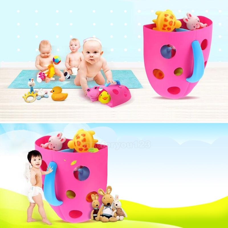 Toddler Baby Bath Toy Organizer Storage Bathroom Bag Kids Net Super ...