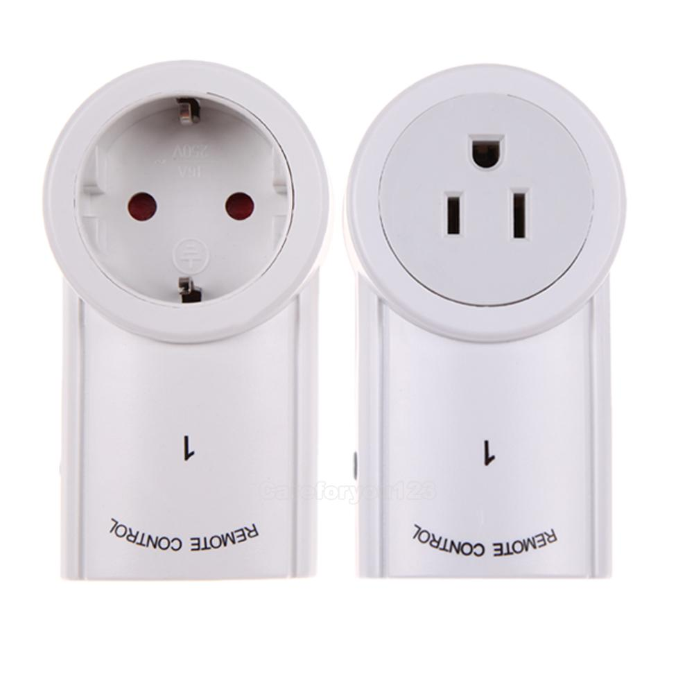 2 pack wireless remote control ac power outlet plug light lamp appliance switch ebay. Black Bedroom Furniture Sets. Home Design Ideas
